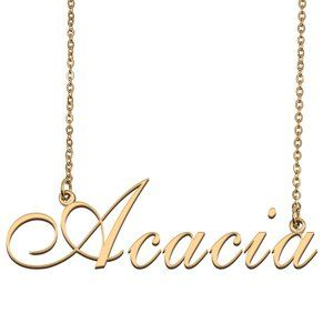 Custom Personalized Acacia Name Necklace